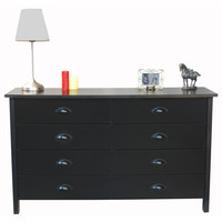 Black 8-Drawer Double Dresser - Made in USA