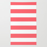 Stripe Coral Bold Rug by Beautiful Homes