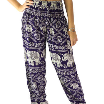 Elephant pants /Hippies pants /Boho pants one size fits dark puple