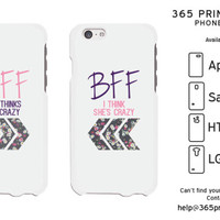 BFF Floral Best Friend Matching Phone Cases - 365 Printing Inc