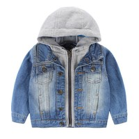 Trendy New Boys Denim Jackets Children Clothing Solid Hooded Boys Jackets And Coats Winter  Autumn Outwear Kids Boys Fashion Clothing AT_94_13