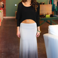 Take a Dip-dye Maxi Skirt - Grey