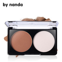 By Nanda Brand Makeup 2 Color Bronzer Highlighter Powder Palette Trimming Powder Make Up Face Cosmetic Contour Pressed Powder