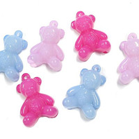 10 Jelly Bear Charms Colorful Kitschy Fun K155