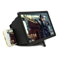 Screen Magnifier, Cell Phone 3D HD Movie Video Amplifier with Foldable Lazy Phone Stand for iPhone 7/7 Plus / 6 / 6s / 6 Plus / 6s Plus and All other Smart Phones