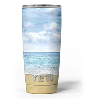 Calm Blue Sky and Sea Shore - Skin Decal Vinyl Wrap Kit compatible with the Yeti Rambler Cooler Tumbler Cups