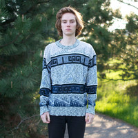 80's Abstract Greek Style Sweater