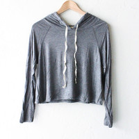 Cropped Hoodie - Heather Grey