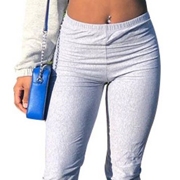 New women's hot sale pleated tight-fitting hip bottoming trousers