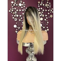 Blond ombre' lace front wig #1183