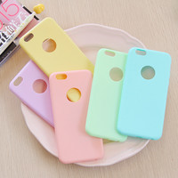 For i Phone Candy Color Matte Case Cover for iPhone 7 6 6S SE TPU Silicone Soft Slim Fit Case for iPhone 6Plus 6S Plus 5 5S