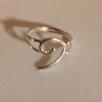 Bass ring, music ring, Sterling Silver Bass Clef Ring,Gift for Musician, Silver Jewelry, Gift for Her