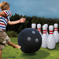 Giant Inflatable Bowling Set Kids Sport Fun Indoor Outdoor Toys Play Huge Ball