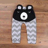 Boys Pants Bears Children Harem Pants For Girls Boy Toddler Child Trousers Baby Clothes