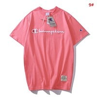 Champion Fashion New Embroidery Letter Women Men Top T-Shirt 9#