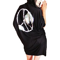 Toxxy Peace Draped Open Top One Size in Black