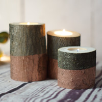 Rose Gold Dipped Candle Holder