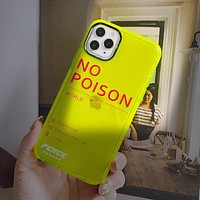 2020 new personality trend fluorescent green iphone case