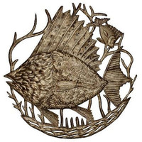 Big Fish 24 Inch Metal Art - Croix des Bouquets