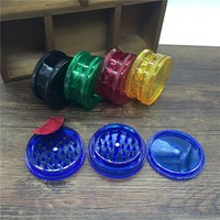 3 Layers Plastic Herb Grinder Spice Crusher Hand Muller For Vaporizer or Herbs