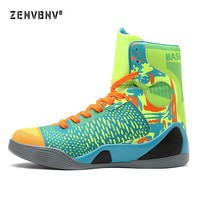 Zenvbnv New Basketball Shoes Air Cushion Kobe Hombre Athletic Mens Shoes Men High-top Sports Comfortable Breathable Sneakers
