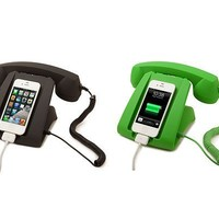 Talk Dock Mobile Device Handset and Charging Cradle Black