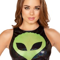EDC Mesh Alien Crop Top