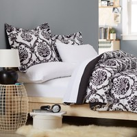 Pinzon 5-Piece Bed In A Bag - Twin,  Black & White Ikat