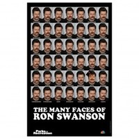 Parks and Recreation Many Faces of Ron Swanson Poster [11 x 17]