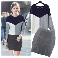 Women's Fashion Thicken Knit Winter Pullover Long Sleeve Sweater [9312521610]