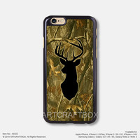 Black Milu deer camouflage iPhone 6 6Plus case iPhone 5s case iPhone 5C case iPhone 4 4S case Samsung galaxy Note 2 Note 3 Note 4 S3 S4 S5 case 322