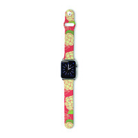 """Holly Helgeson """"Cammelia"""" Red Yellow Apple Watch Strap"""