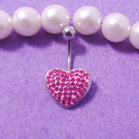 New Charming Dangle Crystal Navel Belly Ring Bling Barbell Button Ring Piercing Body Jewelry = 4804892740