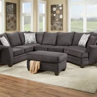 Casa Gray 3 Pc. Sectional - Sectionals - Living Room - mobile