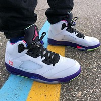 Nike Air Jordan 5 Retro Alternate Bel Air Basketball Shoes Sneakers