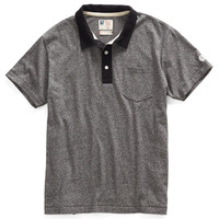 Jersey Polo in Salt and Pepper