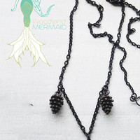 Black Forest Pinecone Necklace
