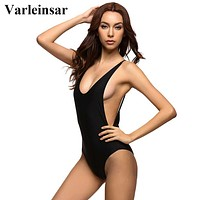 Sexy 1 one piece swimsuit Backless swimming suit for women Swimwear Bathing suit Monokini beach wear maillot de bain femme V111