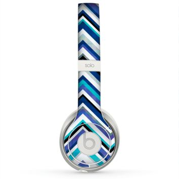 The Vibrant Blue Sharp Chevron Skin for the Beats by Dre Solo 2 Headphones