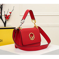 Fendi Women Leather Shoulder Bag Satchel Tote Bag Handbag Shopping Leather Tote Crossbody Satchel Shouder Bag