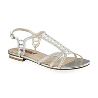 kisses Women's Begaze Embellished Silver Dress Sandal - Clothing, Shoes & Jewelry - Shoes - Women's Shoes - Women's Sandals