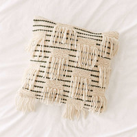 Woven Fringe Pillow   Urban Outfitters