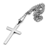 Sirius Jewelry Mens Fashion Gift Crucifix Cross Stainless Steel Pendant Necklaces with Gift Box