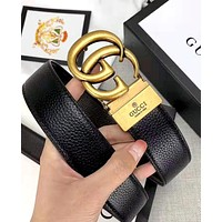 Bunchsun GUCCI  new retro simple smooth buckle belt