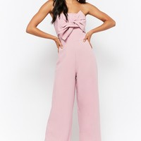 Strapless Twist-Front Jumpsuit