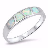 Sterling Silver Lab Blue Opal Designer Ring