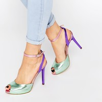 Love Moschino Metallic Two Part Heeled Sandals