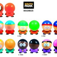 """South Park Buildable Figurines Set of 7 Collectibles * 2 1/4"""" size"""