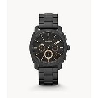 Machine Mid-Size Chronograph Stainless Steel Watch, Black   Fossil®