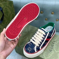 GG low-top mens and womens double G sneakers shoes-4